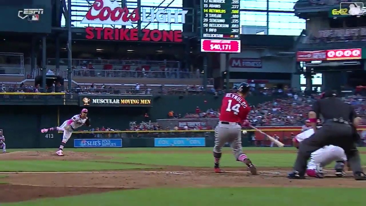 First game of the season, facing his former team, Mark Reynolds put the Nats on his back. https://t.co/yBRAKFTfcc