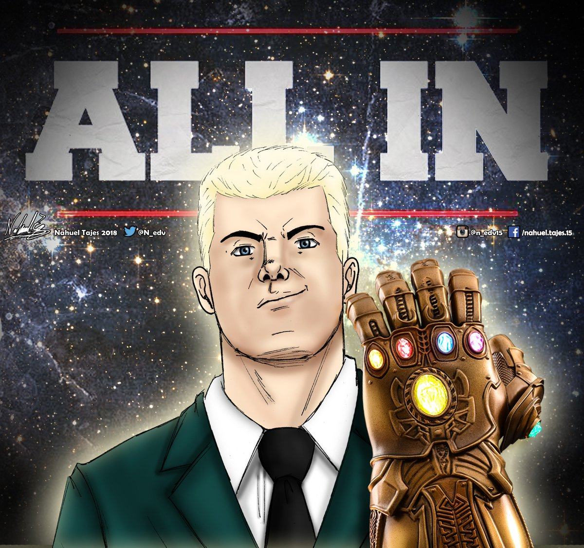 Infinity SOLD OUT  Congratulations to @CodyRhodes and all the @ALL_IN_2018 staff  #Cody #CodyRhodes #ALLIN #InfinityWar  #Wrestling #NJPW #ROH #allin2018 #fanart #dibujo #drawing @voiceswrestling @OneHourTees<br>http://pic.twitter.com/4dAlDrQ9dh