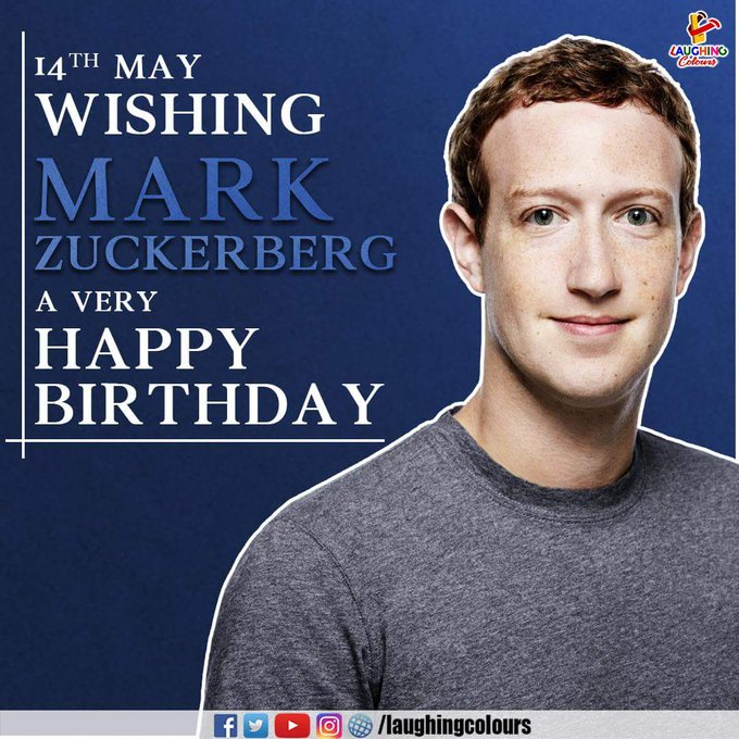 FB founder Mark Zuckerberg Happy Birthday