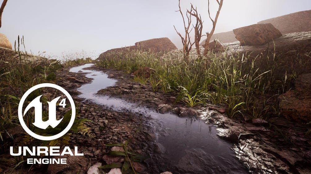 Free Materials for Unreal 4 - AAAタイトルを多く手がけたアーティストによるUE4向けマテリアルが無償公開! #3dnchu