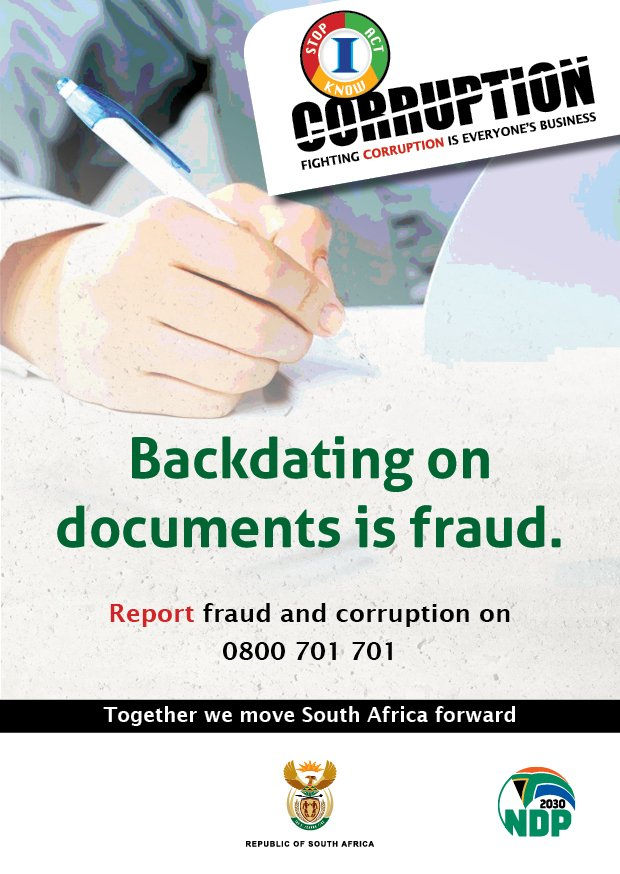 Backdating government documents