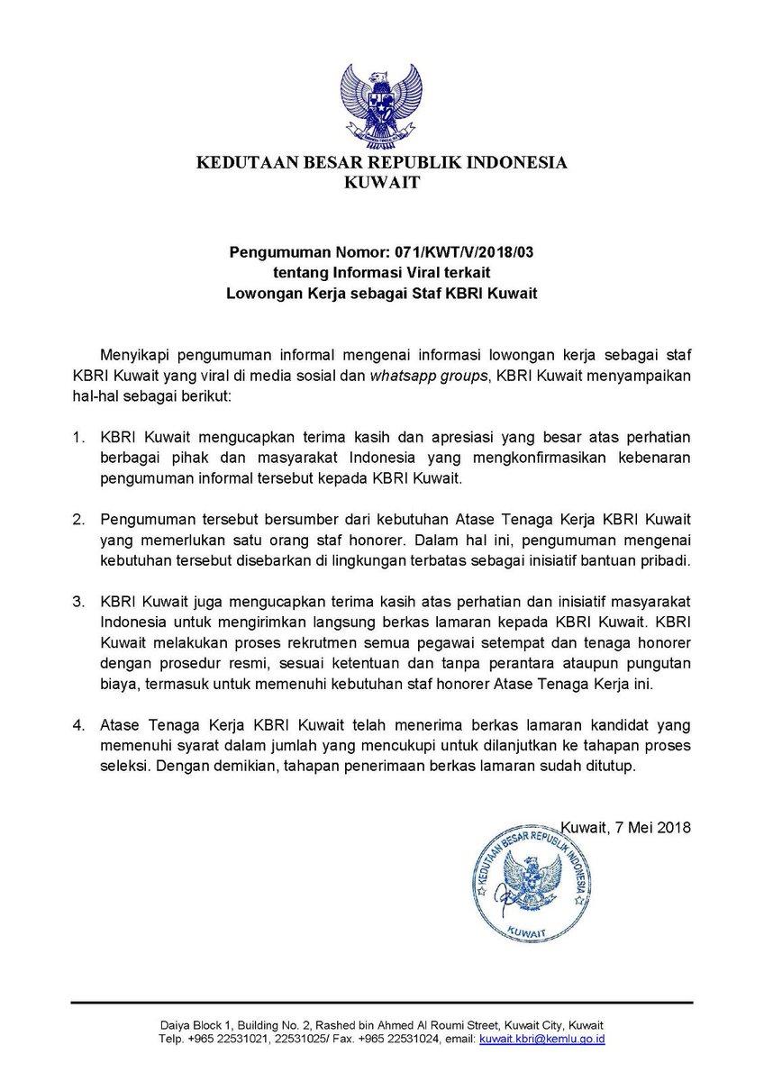Indonesian Embassy on Twitter: