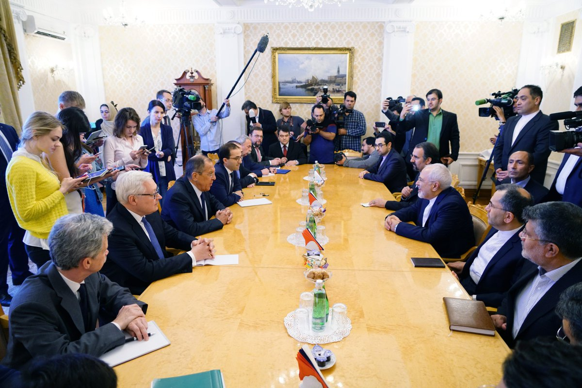 🇷🇺🇮🇷Sergey Lavrov meets the Foreign Miinister of Iran @JZarif in Moscow