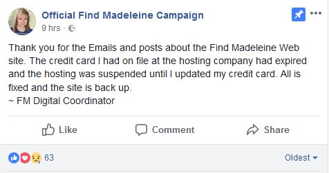 Official Madeleine McCann Facebook page and website news - Page 8 DdJQO-vXkAAHHi7