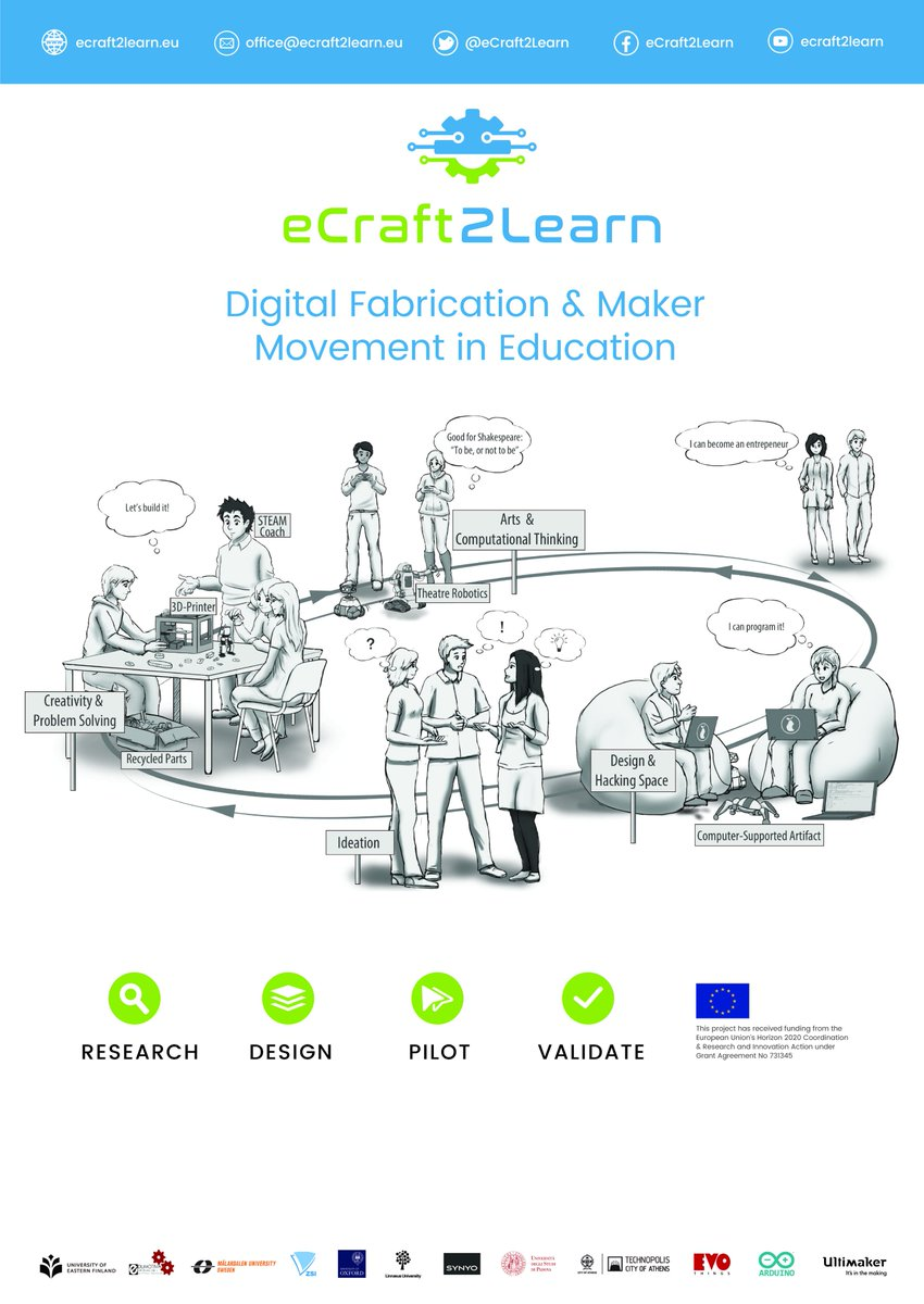 test Twitter Media - ⁉️What is the eCraft2Learn ecosystem and how can it be implemented in #STEAM education?    ➡️Check our new manual for training teachers on craft- and project-based learning! 👉👉👉https://t.co/MXmWi2l0Q8 https://t.co/WKYV85Uyx6