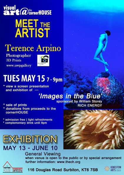 Meet the artist night for our May art exhibition. Tuesday 15 May from 7 to 9pm with artist Terence Arpino. Prints on sale at £15