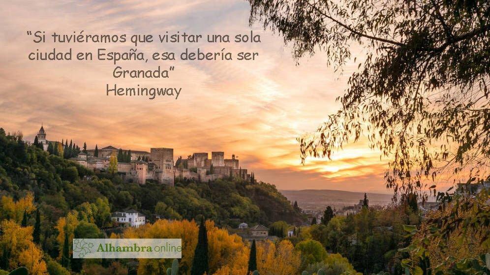 Alhambra De Granada Ar Twitter No Le Diré A Hemingway Que
