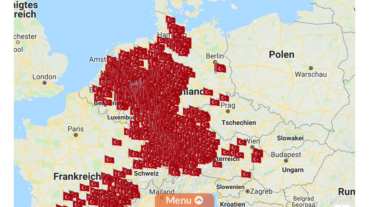 Map Of Germany 2000.Islamism Map On Twitter Through Its Religious Authority Diyanet