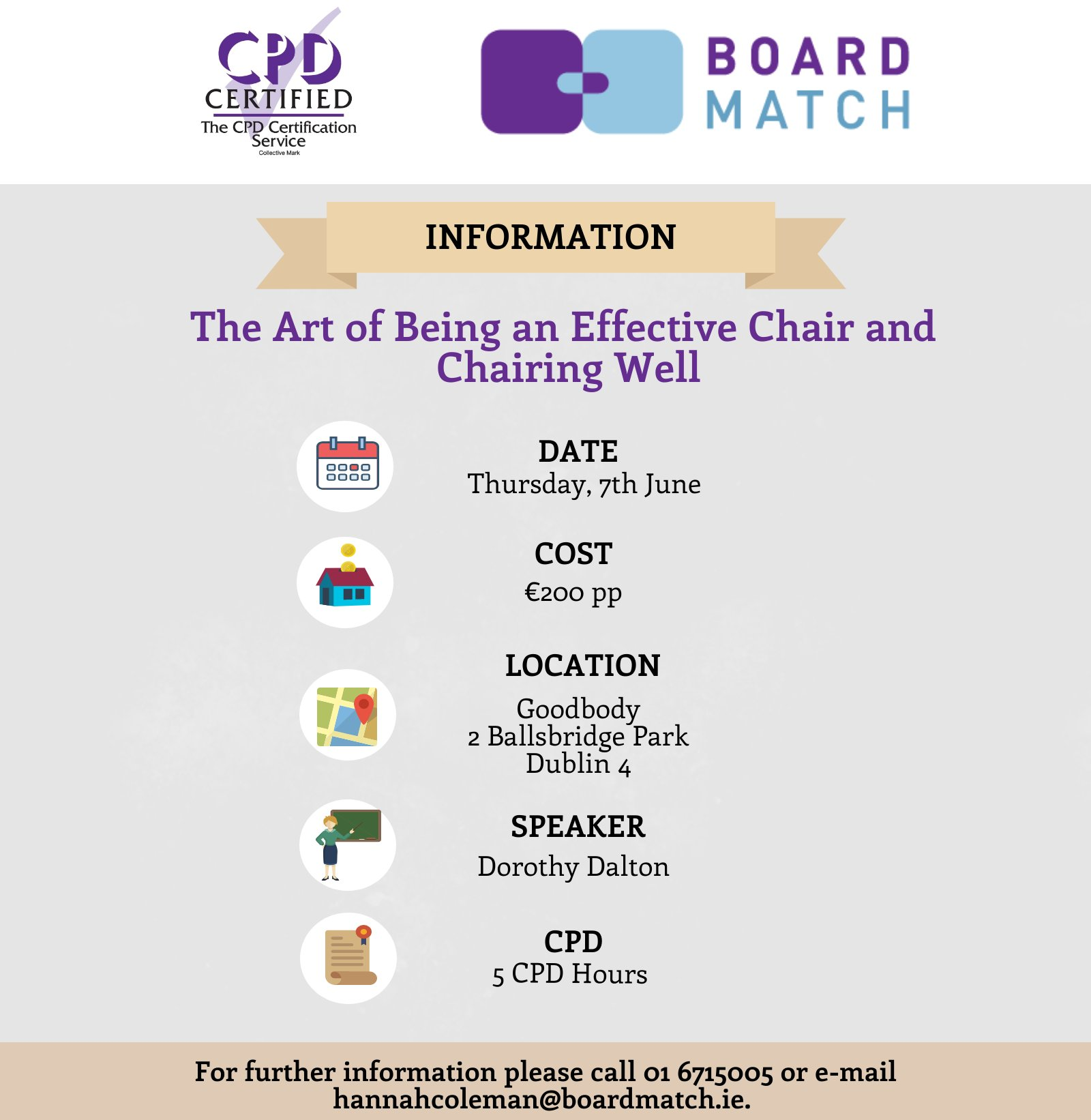 Boardmatch Ireland On Twitter Places Remaining For Our Cpd