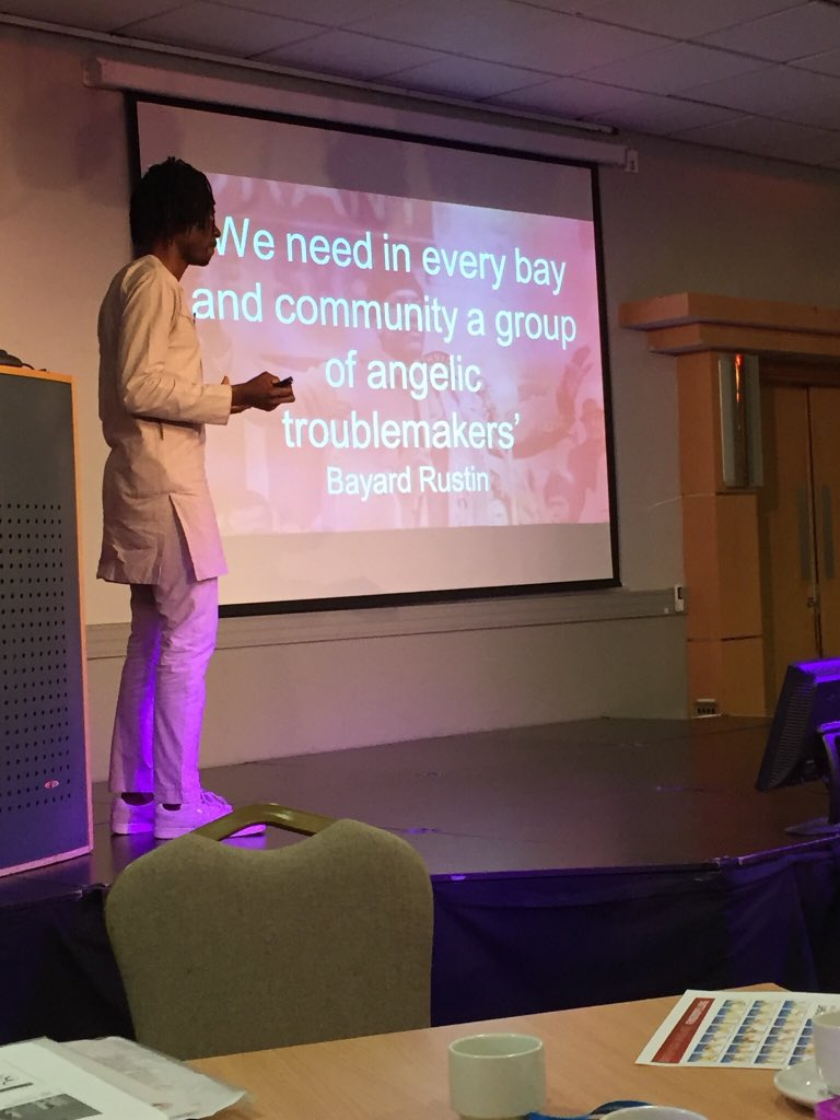 A thought provoking and challanging presentation by @bisialimi @IandDMatters @UHMBT #intersectionality #TowardsInclusion the importance of not staying silent #AngelicTroublemaker<br>http://pic.twitter.com/hWuBBjyuTk