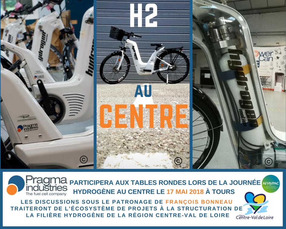 @PragmaFuelCells participera à la journée Hydrogène au Centre le 17 mai 2018 Lycée Descartes @villedetours. Tables rondes sous le patronage de @fbonneau président de la @RCValdeLoire et la participation de l'@afhypac. #H2now #écomomilité #hydrogen #véloHydrogène #pileAcombustible