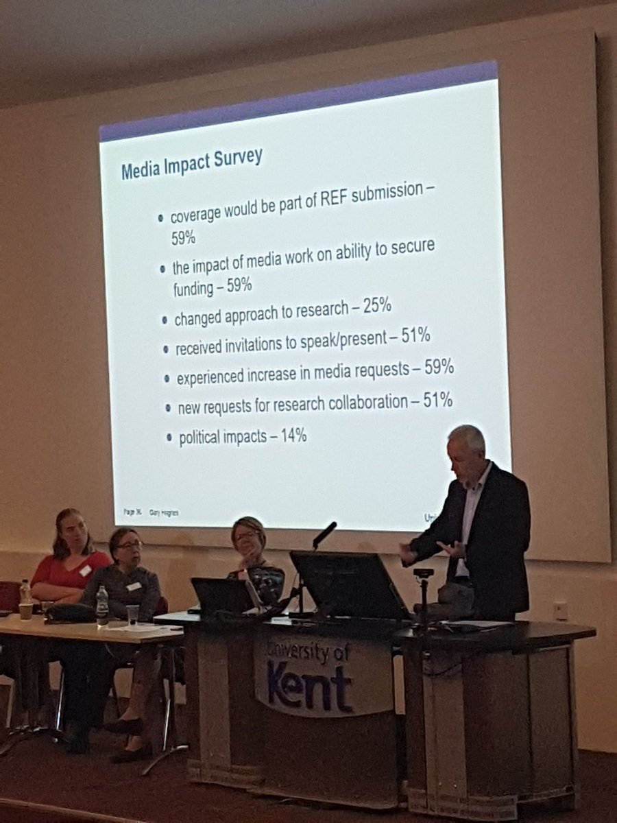 Gary Hughes, @unikent Head of Press Relations, shares the impact and benefit that can come from engaging with the media #researchimpact #impactatkent <br>http://pic.twitter.com/ef2Hrr6tzP