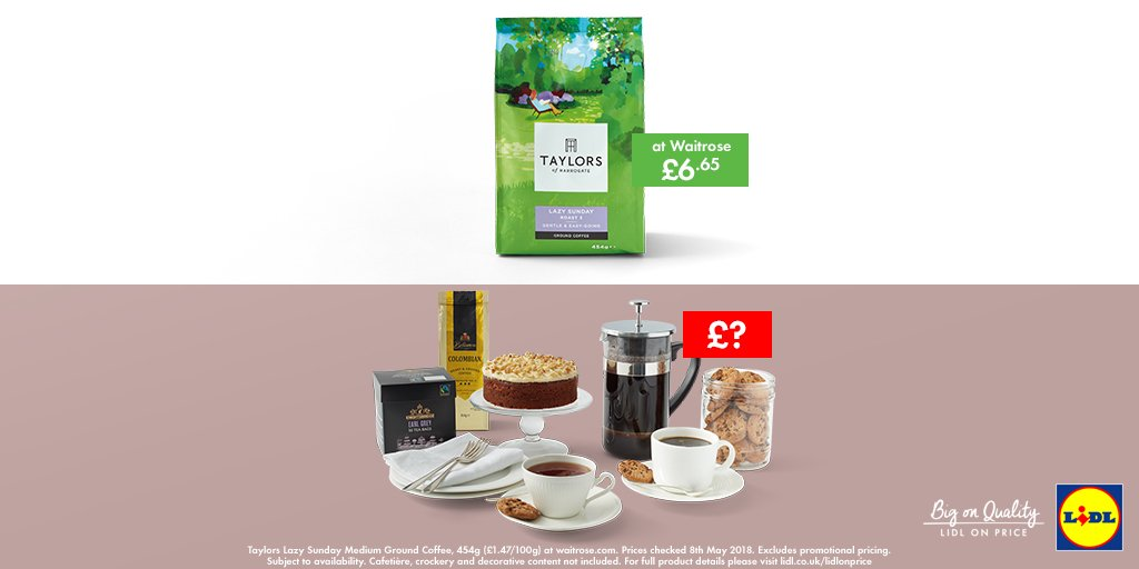 Lidl Gb On Twitter Guess The Price Of Our Coffee And Cake