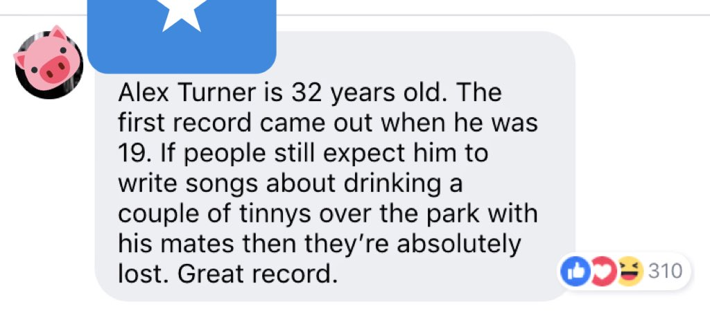 Dear Arctic Monkeys fans, I don't understand this outlook on the new album.   Why do people keep referencing the first album. The last three albums didn't sound like that? AM certainly didn't.   I don't believe anyone wanted that album again. Let me know your thoughts - Cam