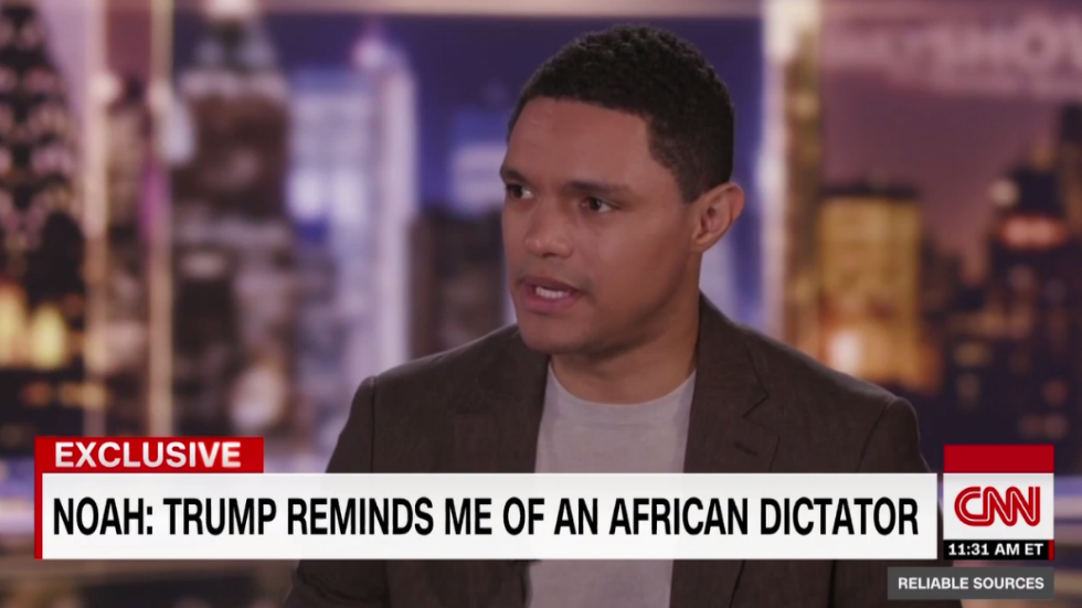 WATCH: Trevor Noah: 'Trump reminds me of an African dictator' https://t.co/IY0XrvCjE5 https://t.co/Pvk3D9Eji6