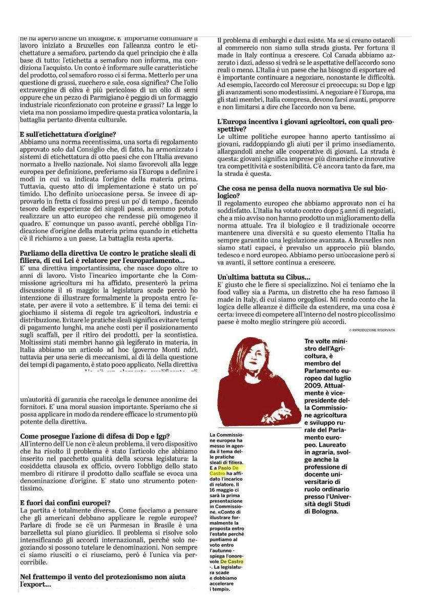 9276c6c7dc7b E inizia la caccia ai  furbetti  - Pambianco News. Nella mia intervista  alla  gazzettaparma il punto sui temi caldi che riguardano la politica  agricola