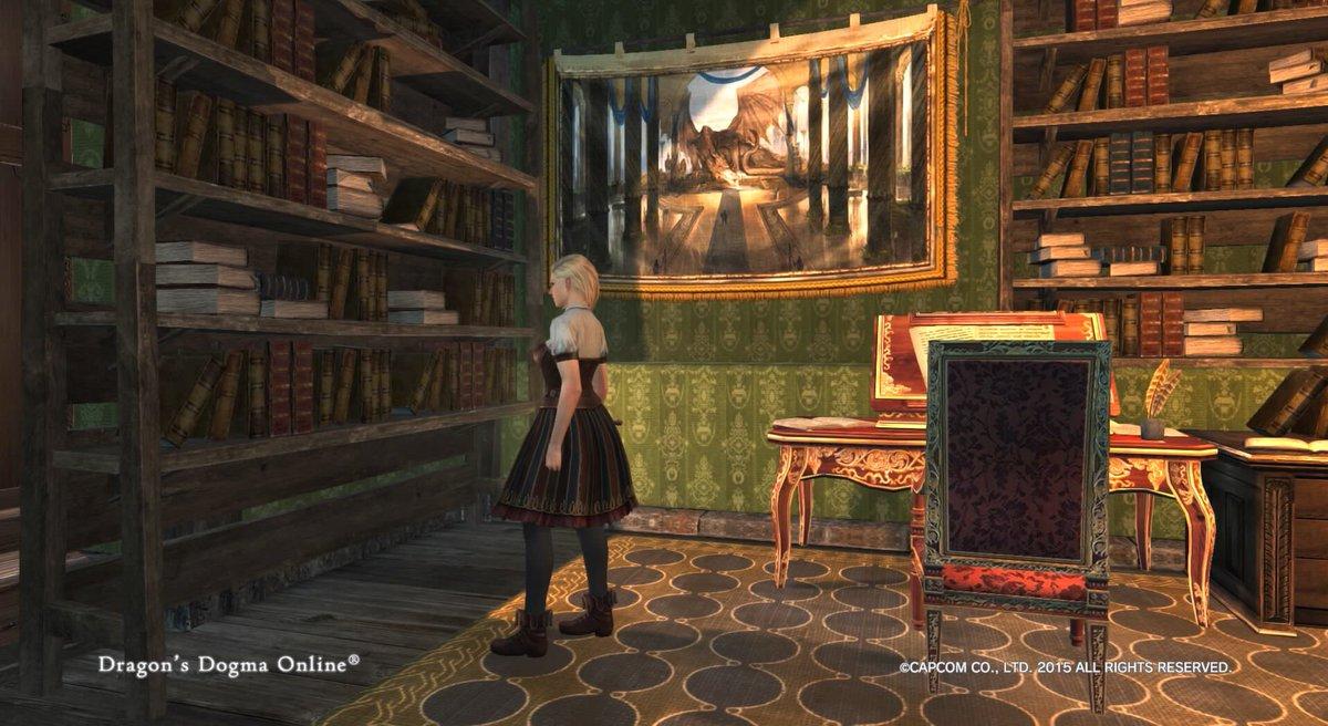Lillian 幻想中 Sur Twitter タペストリー ドラゴン交換 壁面家具 左側に設置できるみたいですよ ๑ ᴗ グリーンの壁紙とマッチしてて綺麗 Ddon