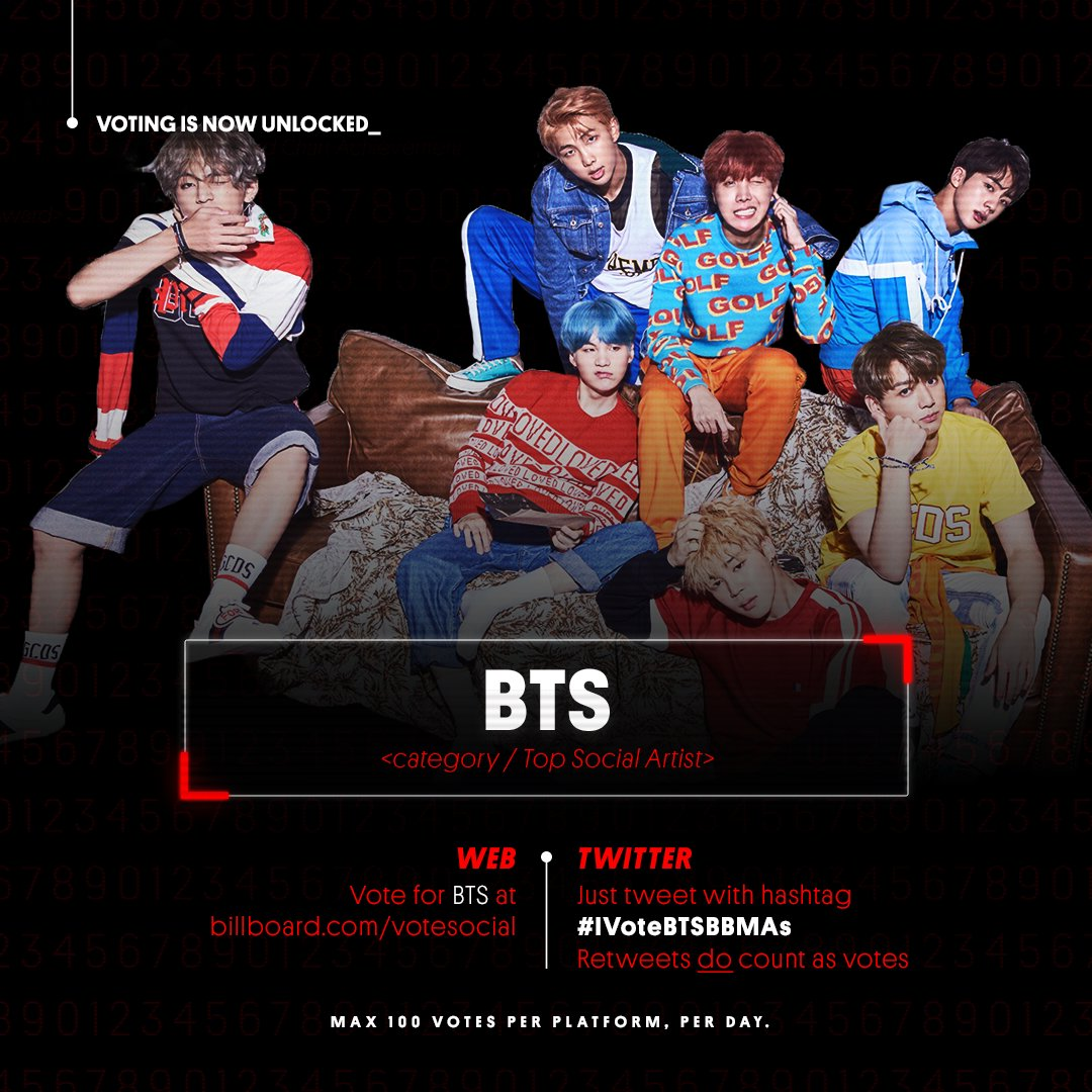 #BBMAs voting is now unlocked_   <category /Top Social Artist presented by >  @23andMeVote for  on Tw@BTS_twtitter with  and h#IVoteBTSBBMAsere ➡️ https://t.co/KpGKib1QFm