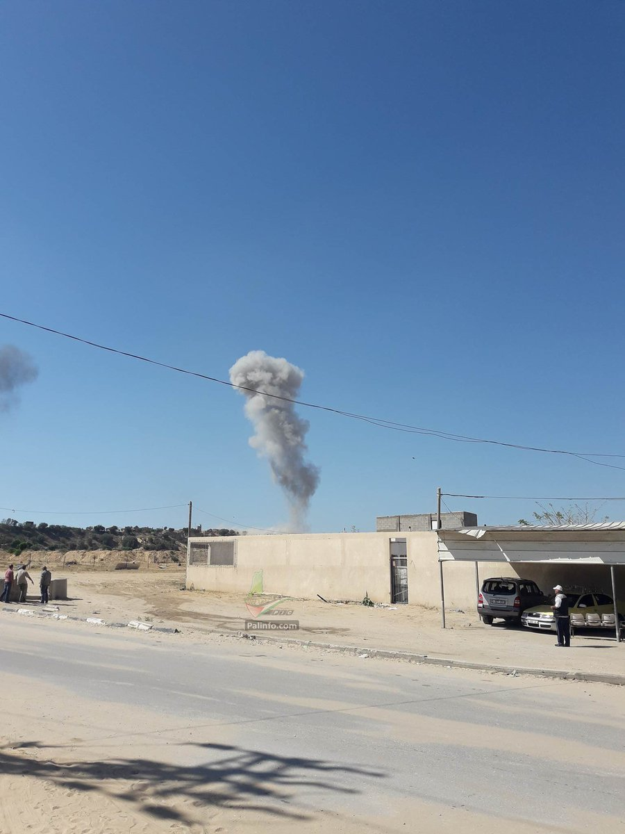 Pictures of two Israeli strikes near Beit Lahya north of Gaza