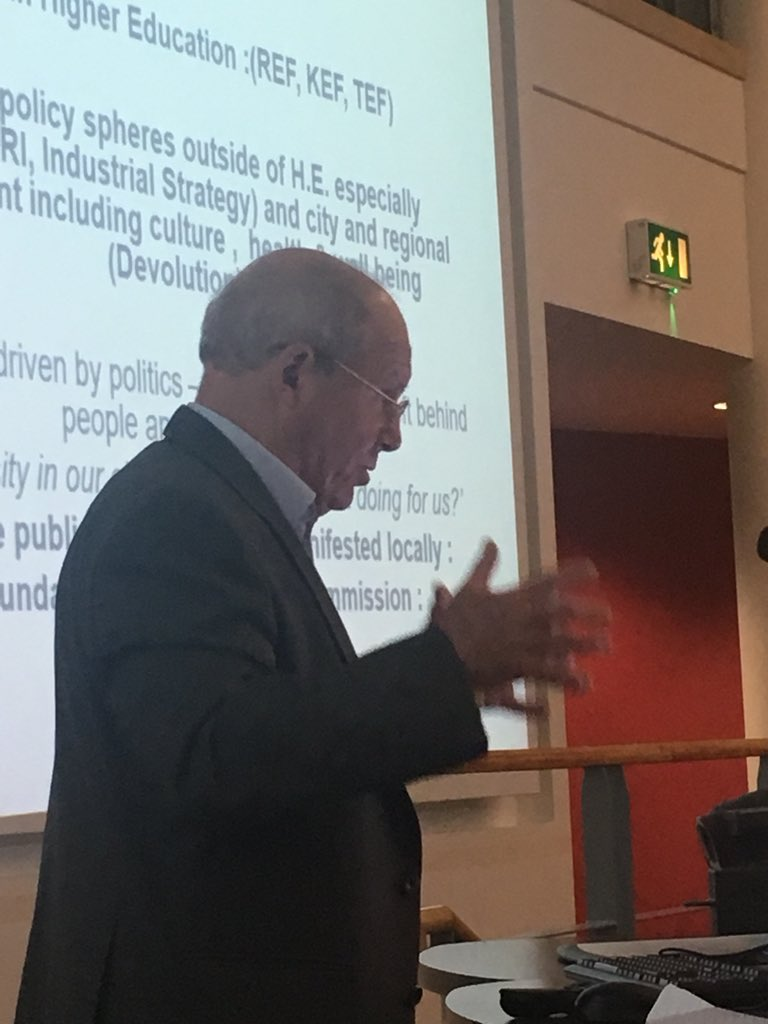The afternoon keynote Prof John Goddard from @CURDSNewcastle #researchImpact talking about impact in the broader context of a Civic University in a changing society @impactATKent <br>http://pic.twitter.com/Ej2hmeb5we