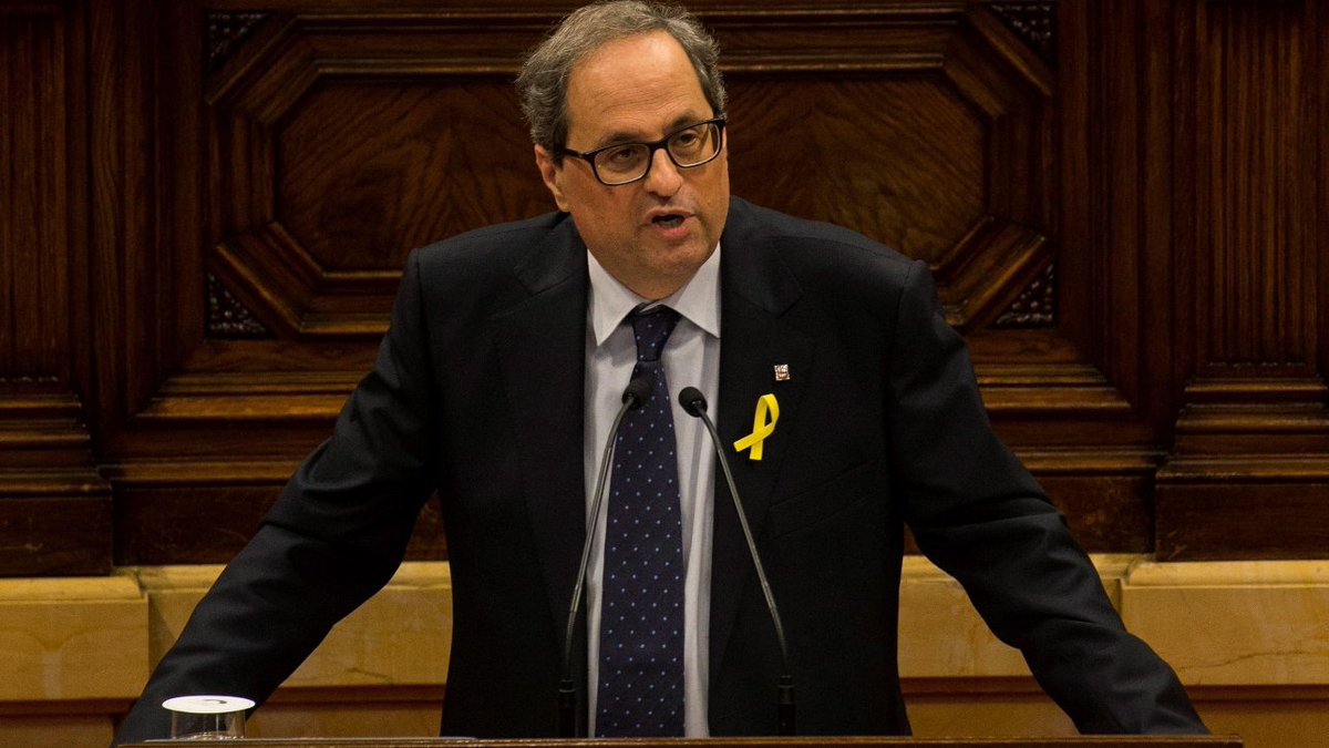 Catalogna, indipendentista Quim Torra eletto nuovo presidente #Catalogna https://t.co/5IiXZ85ncr