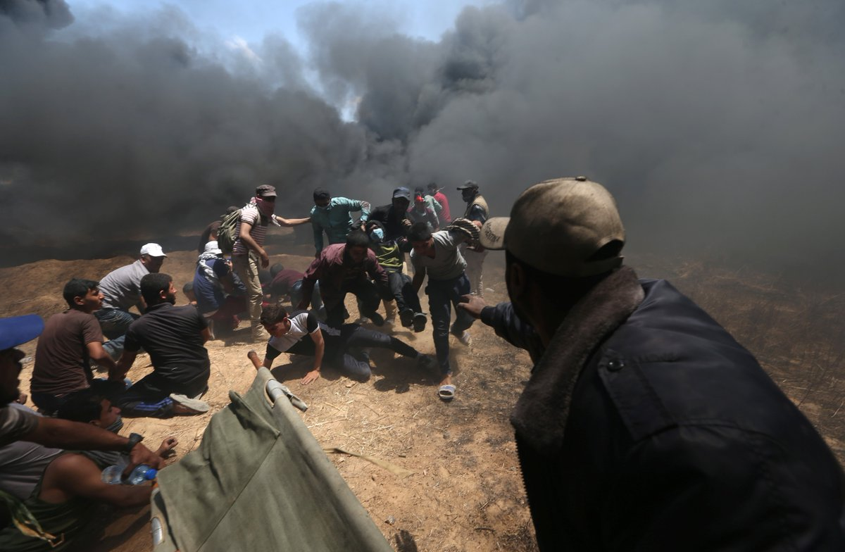 'Terrible massacre': Israel kills 41, injures 1,700 Gaza protesters as US embassy opens in Jerusalem https://t.co/jJMQCyByxd #Nakba70