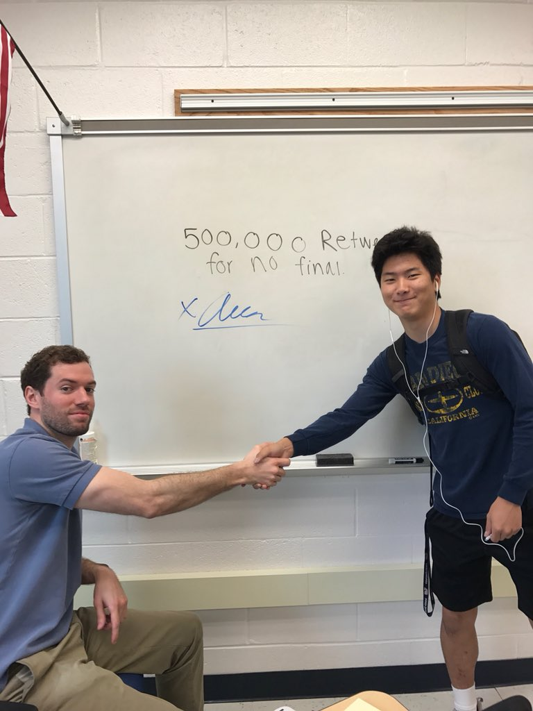 500,000 RTS for no algebra 2 final. we got 3 weeks. HELP‼️