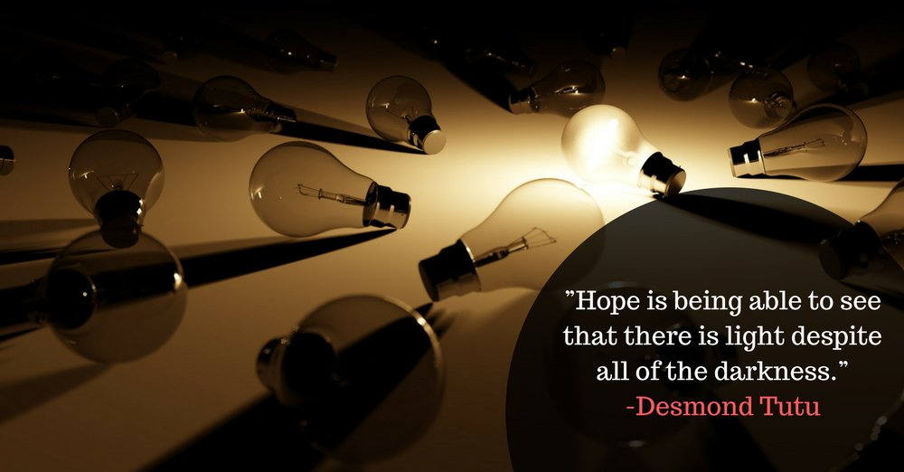 """""""Hope is being able to see that there is light despite all of the darkness."""" -Desmond Tutu #Mondaymotivation #MotivationaQuote <br>http://pic.twitter.com/rSRzxHE1Xq"""