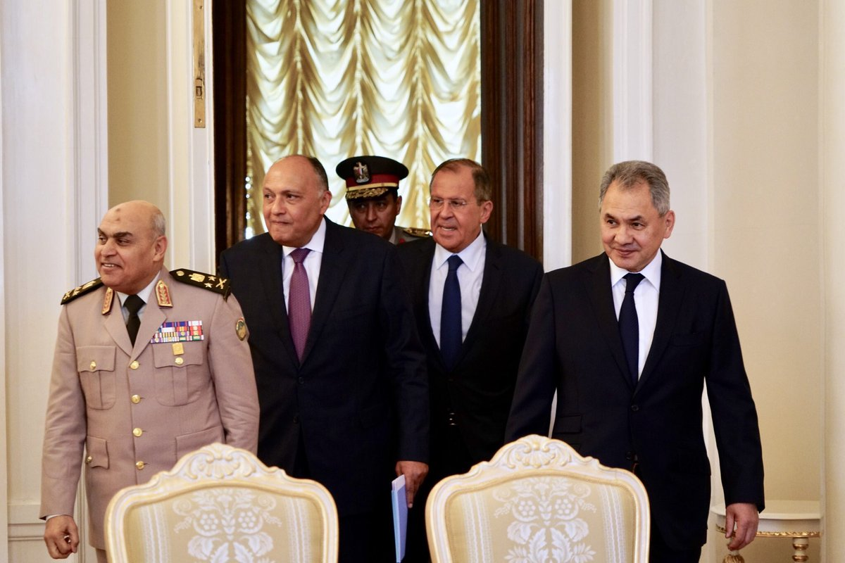 🇷🇺🇪🇬Moscow holds today 2+2 consultations of foreign and defence ministers