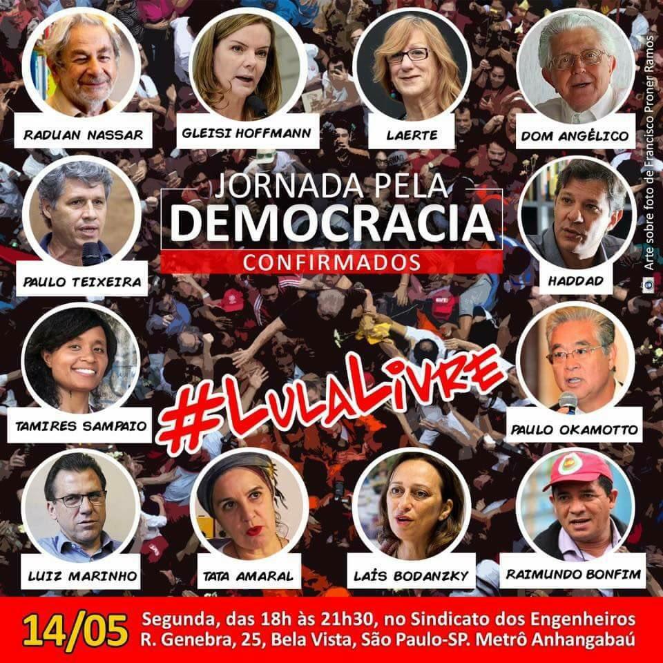 Hoje, em São Paulo! #LulaLivre