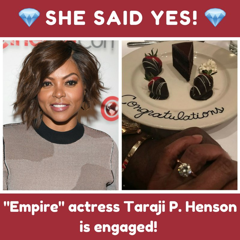 Check out that sparkler! 💍@TherealTaraji's boyfriend Kelvin Hayden popped the question on Mother's Day!  She announced the news on Instagram: 'He started with the Cartier love bracelet BUT that was my #Mothersday gift and then he dropped to his knee and I almost passed out!!!'