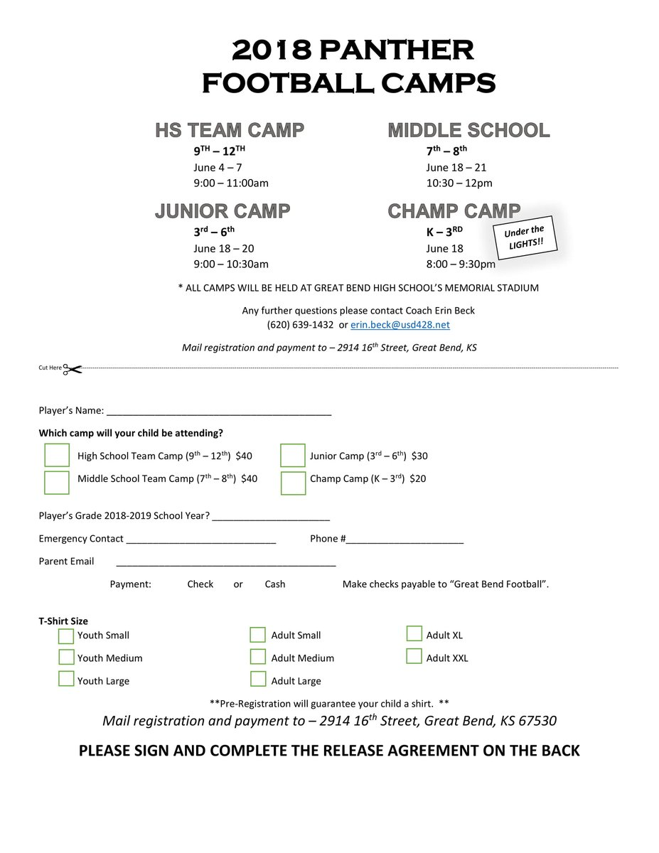 Great Bend Football On Twitter Dont Forget To Sign Up For The