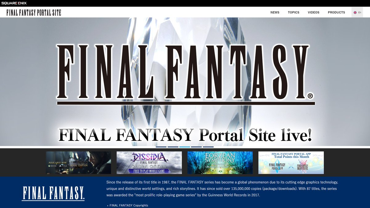 The official Final Fantasy Portal Site is here! All the latest information regarding the FF franchise will be posted here so be sure to visit often to stay up to date 👇 sqex.link/FFPortal