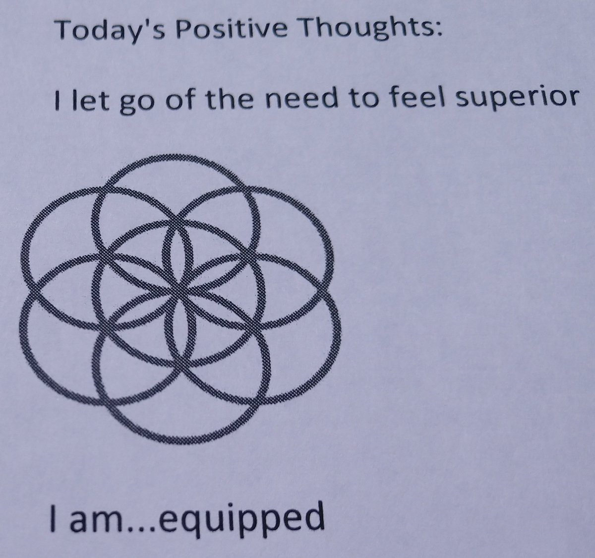 test Twitter Media - Today's Positive Thoughts: I let go of the need to feel superior and I am...equipped. #affirmation. https://t.co/kxw8XSBgfp