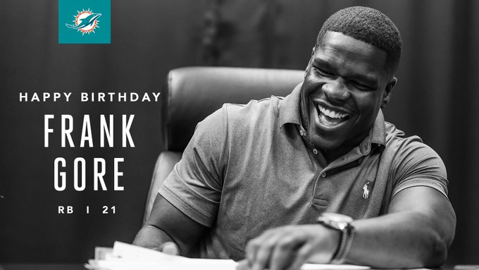 Happy Birthday to Frank Gore!