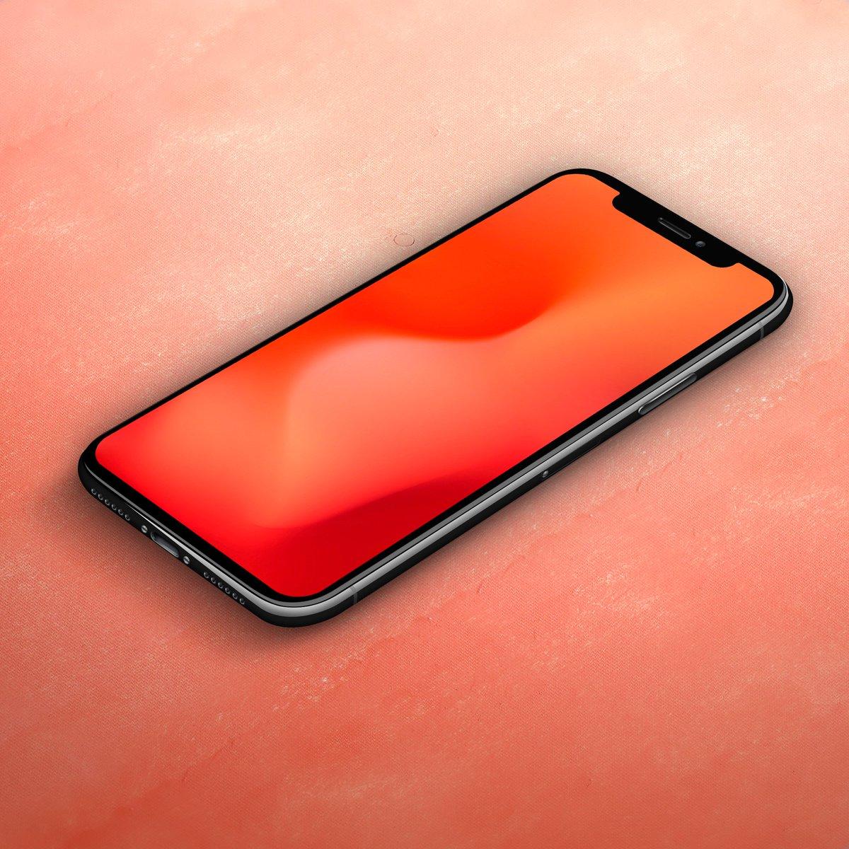 Ar7 On Twitter Wallpapers Ios Homescreen Red Fluid Wallpaper