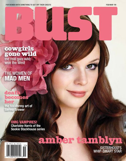 Happy birthday to BUST\s poetry editor TBT our Feb/March 2009 cover: