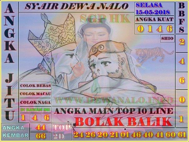 Syair Dewa Nalo Selasa 15-05-2018