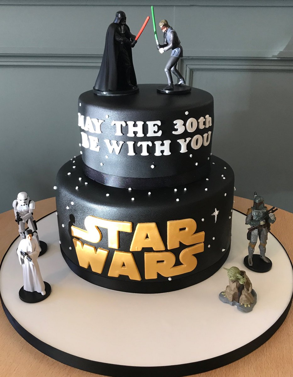 Outstanding The Danes Bakery On Twitter 2 Tier Star Wars Birthday Cake Funny Birthday Cards Online Fluifree Goldxyz