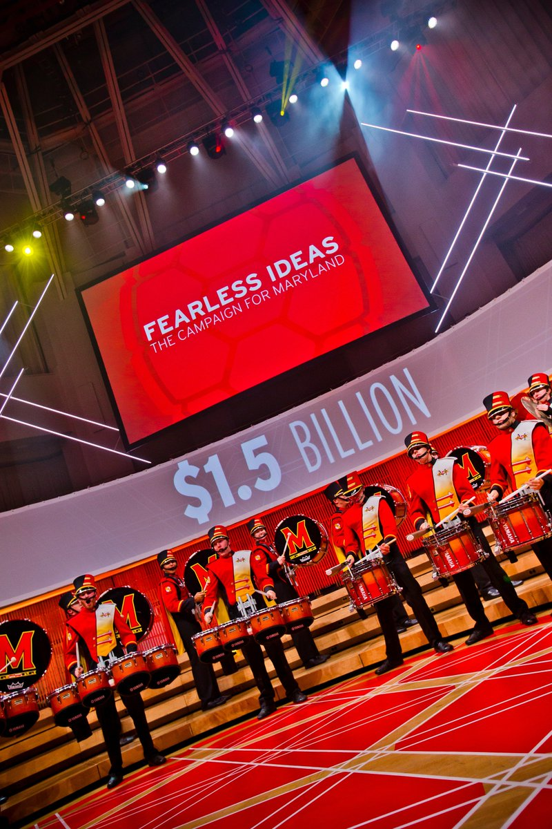 #UMD launches Fearless Ideas: The Campaign for Maryland, our largest fundraising effort ever: $1.5 billion by 2021 to invest in excellence and impact of faculty, students, staff, new facilities, and programs for academics, arts, athletics & advanced research