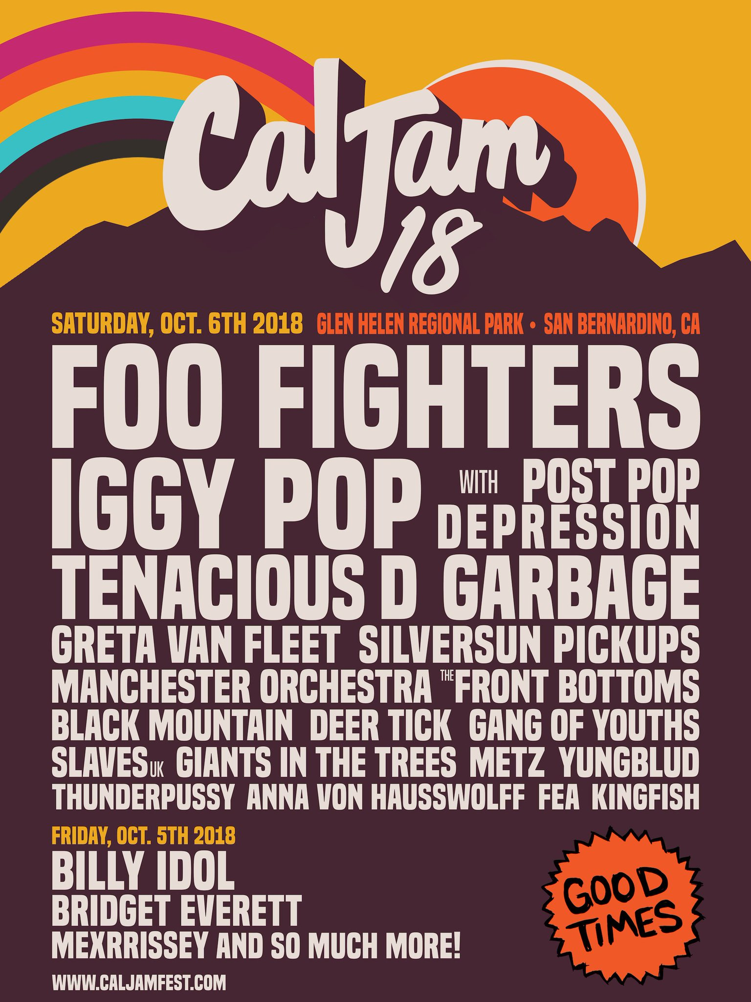 .@FooFighters announce @IggyPop, @RealTenaciousD, @Garbage, and more for Cal Jam 2018 https://t.co/QZhHHXYocV https://t.co/PUL2JCmXdR