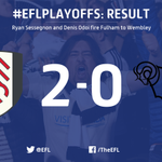 All over.@FulhamFC are going to @wembleystadium! A superb turnaround, but a better tie. @dcfcofficial more than played their part. 👏#EFLPlayOffs