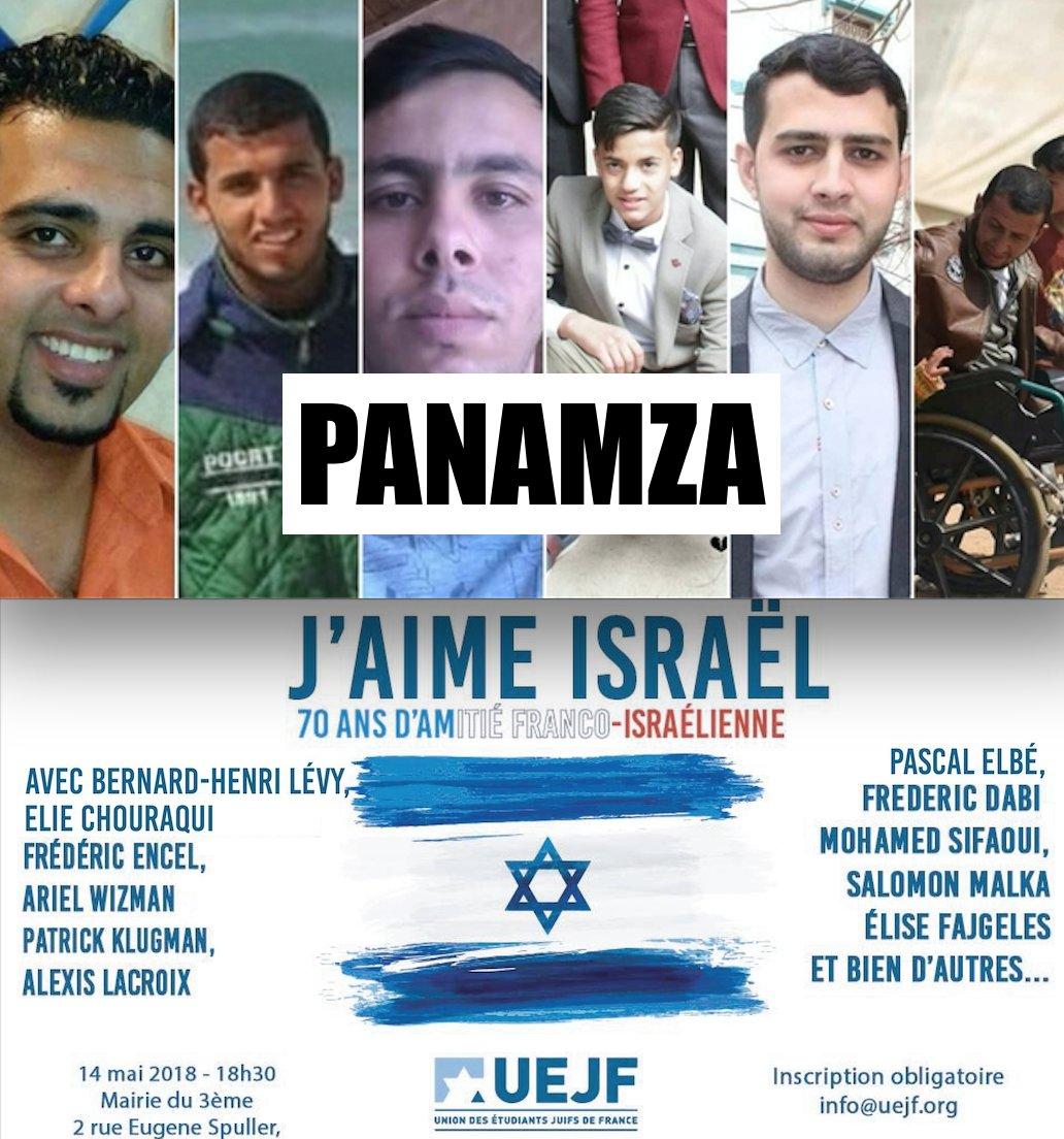 55 manifestants palestiniens tués aujourd'hui par l'armée israélienne : BHL, Boujenah et l'UEJF célèbrent les 70 ans d'Israël