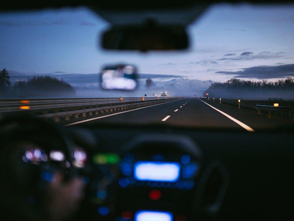 фото дороги из машины вечером весной самого начала