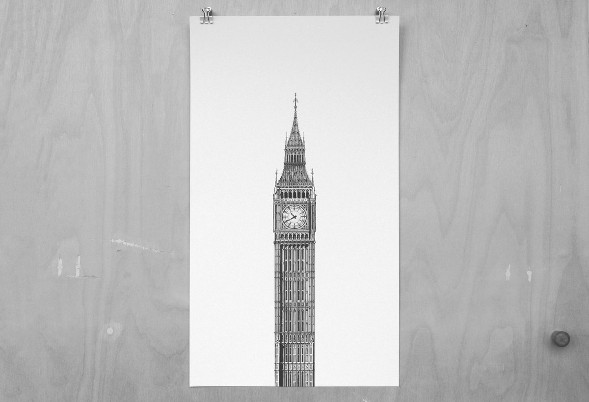 Point101 on twitter big ben by mintysainsbury printed on