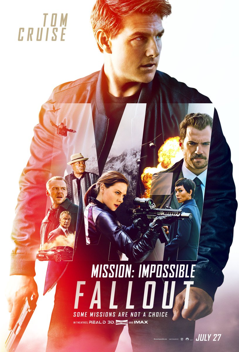 It's almost time 🕔 Can't wait for you to see #MissionImpossible Fallout. July 27th. Be there. 😎   @MissionFilm