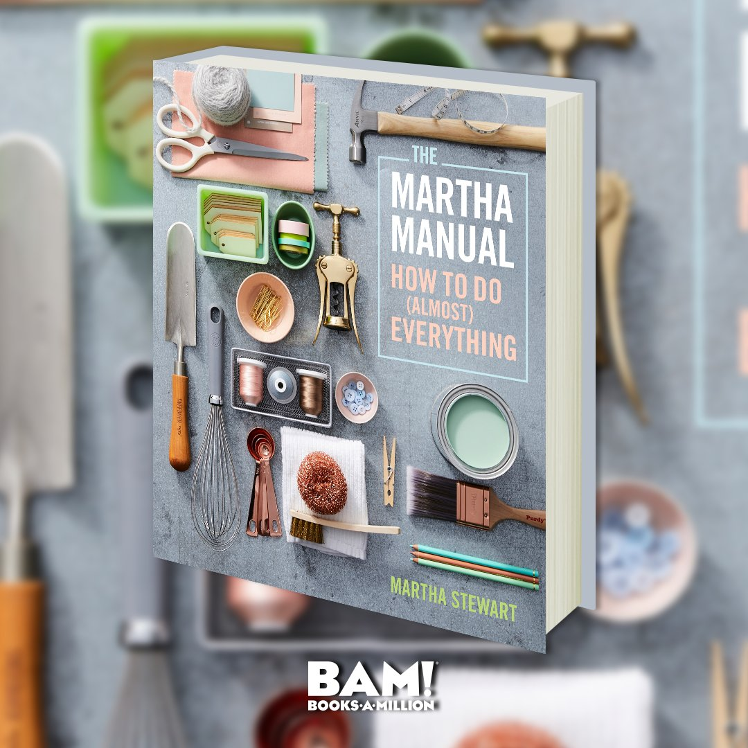 Essential life skills from Americas most trusted lifestyle expert— THE MARTHA MANUAL comes together in one beautiful and practical handbook. #PreOrder now at #BooksAMillionDotCom bit.ly/2rHOopq