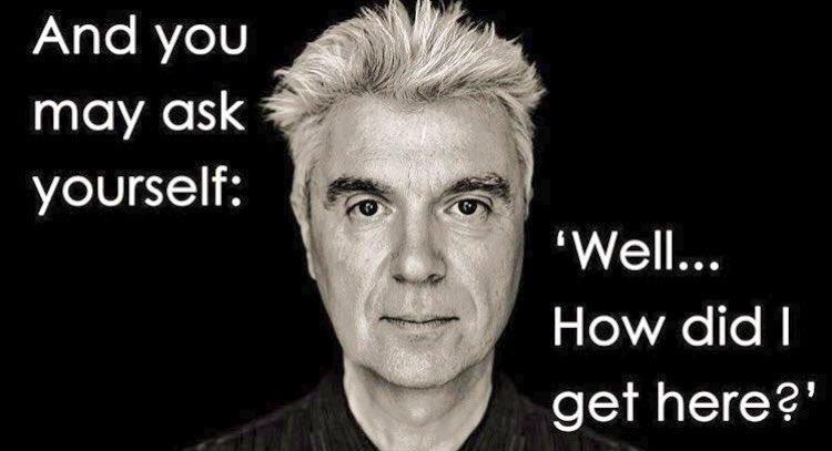 Happy 66th birthday to my idol, David Byrne