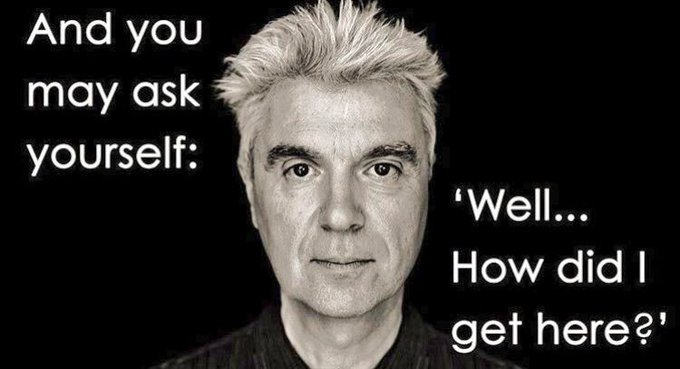 Happy 66th birthday to my idol, David Byrne