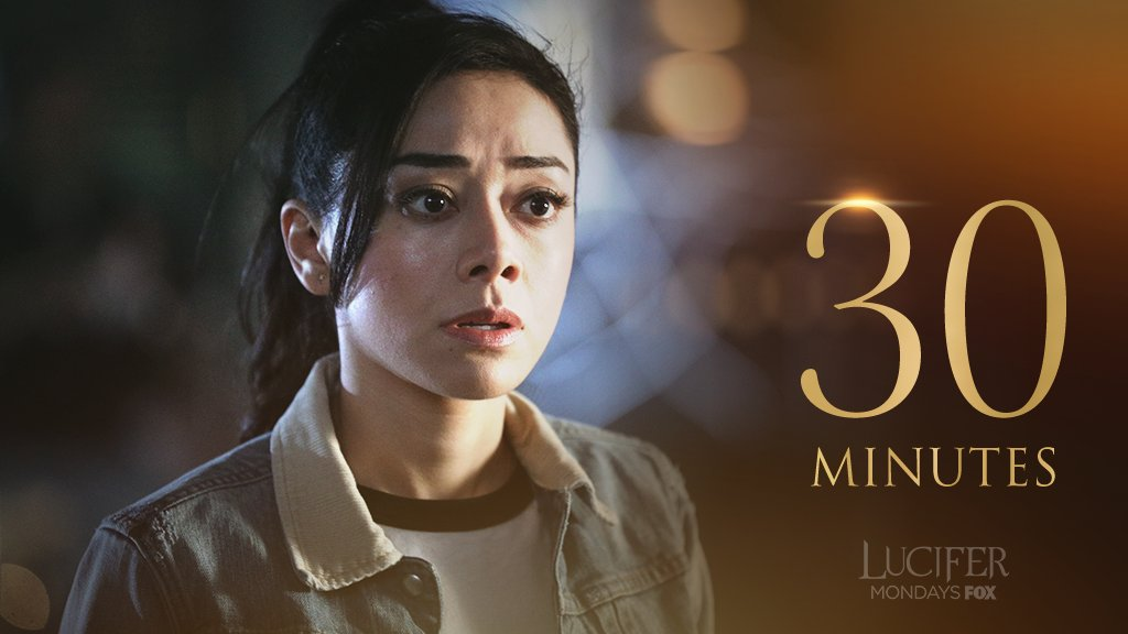 Get ready Lucifans!  Thirty more minutes until the season finale of #Lucifer.